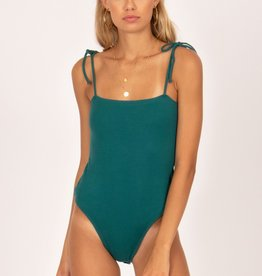 Amuse Society Ribbed Tie Shoulder Bodysuit