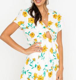 Lush Floral Peplum Dress
