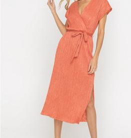 Lush Crinkle Wrap Dress