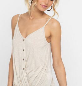 Lush Button Fold Over Cami