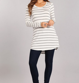 Chris & Carol Striped Long Sleeve Top