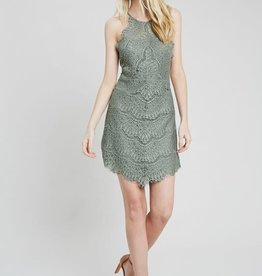 Wishlist High Neck Lace Dress