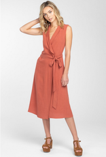 Everly Linen Wrap Dress