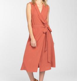 Everly Linen Wrap Dress