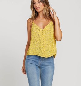 Volcom Button Up Floral Cami