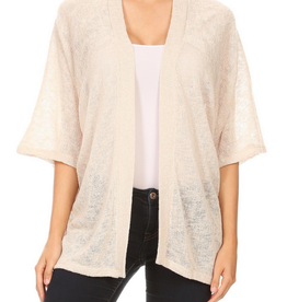 Ginger G Loose Fit Open Cardigan