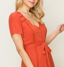 HYFVE Button Up Midi Dress