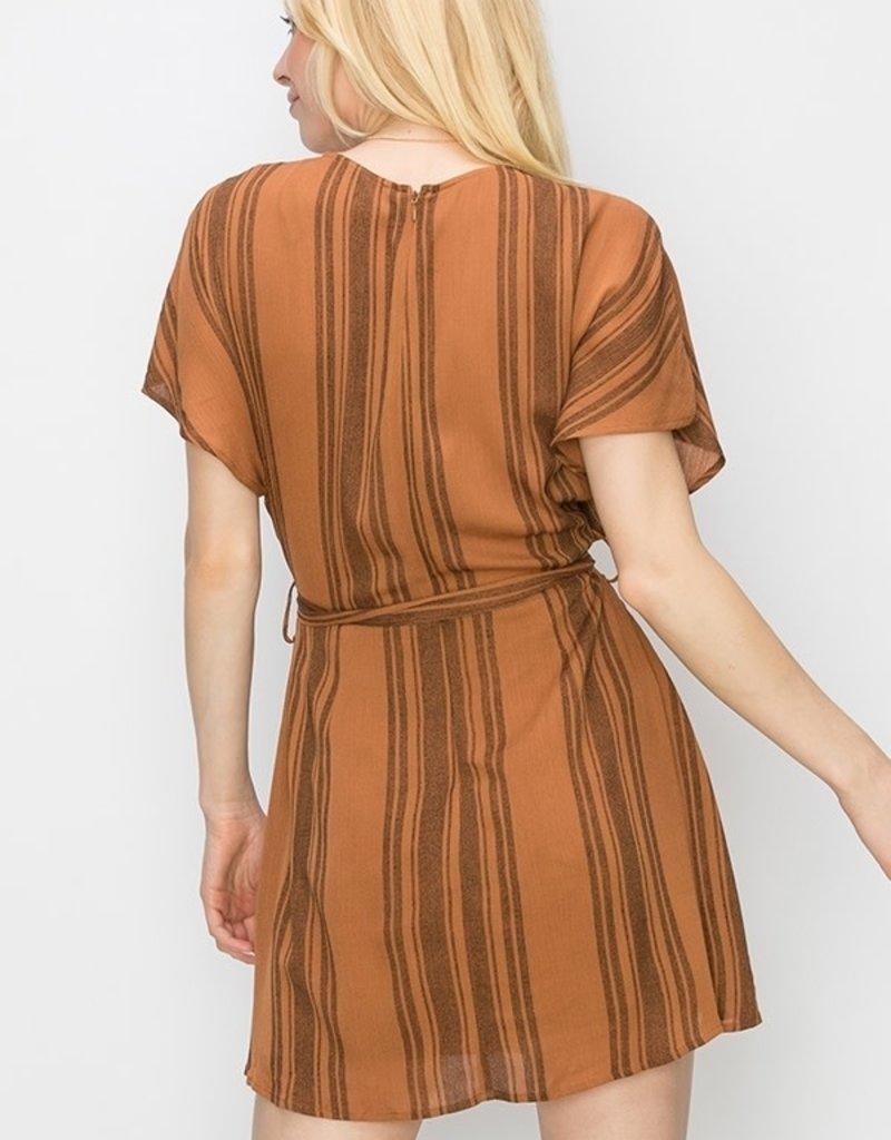 HYFVE Striped Tie Waist Dress