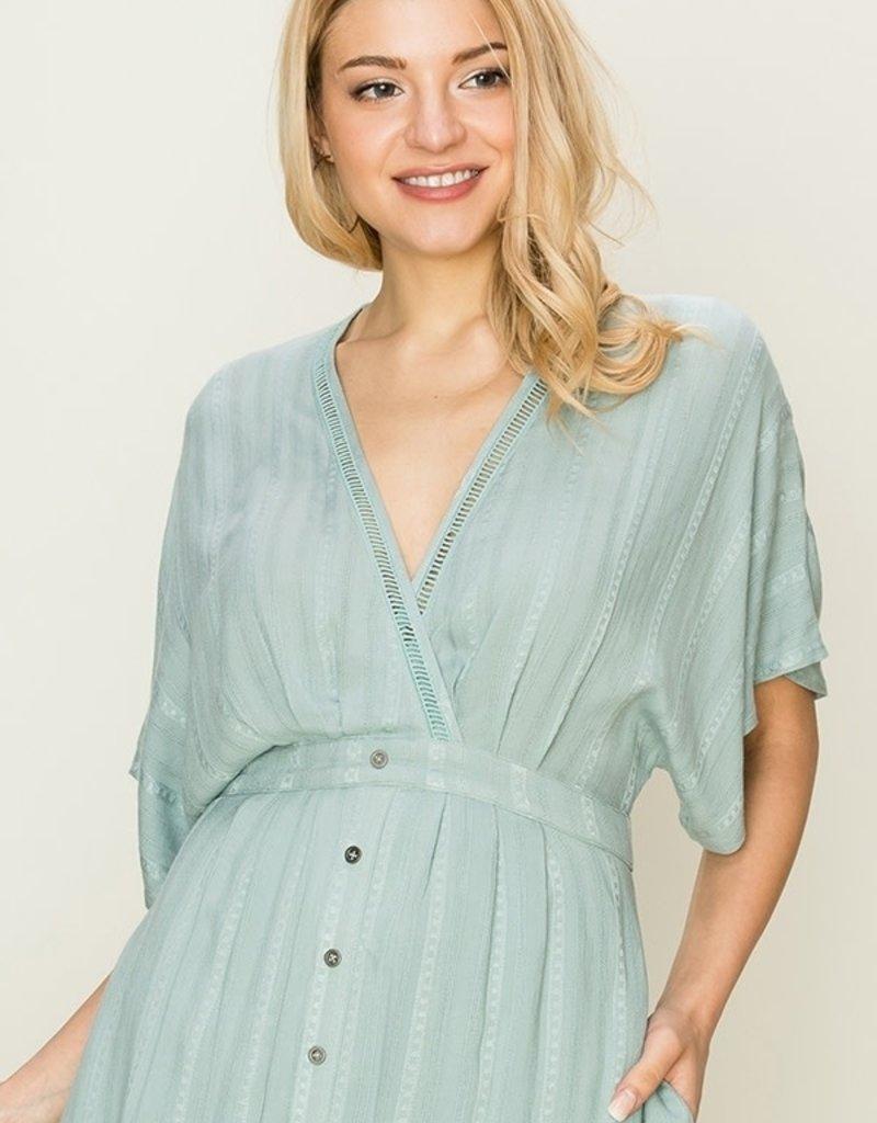 HYFVE Short Sleeve Midi Dress