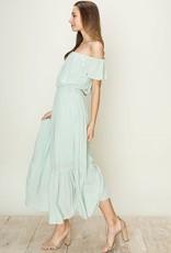 HYFVE Flutter Sleeve Midi Dress