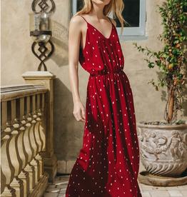 Everly Polka Dot Maxi Dress