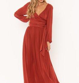 Amuse Society Long Sleeve Wrap Dress