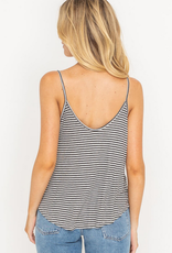 Lush Striped Button Cami