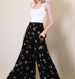 Final Touch Wide Leg Floral Pants