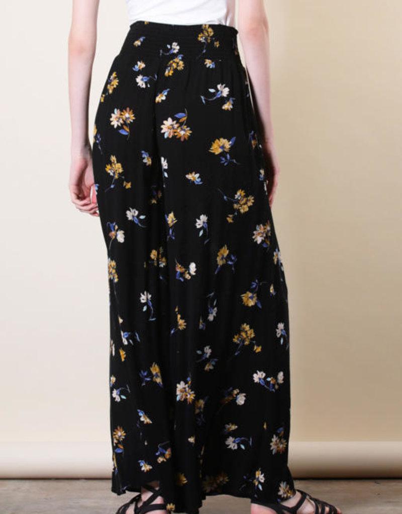 Final Touch Wide Leg Floral Pants
