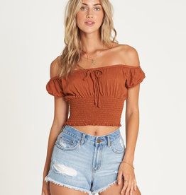Billabong Off The Shoulder Crop Top