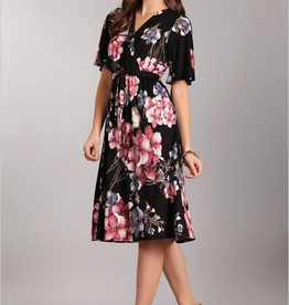 Chris & Carol Pink Floral Dress