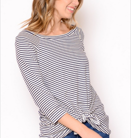 Chris & Carol Striped Knot Front Top