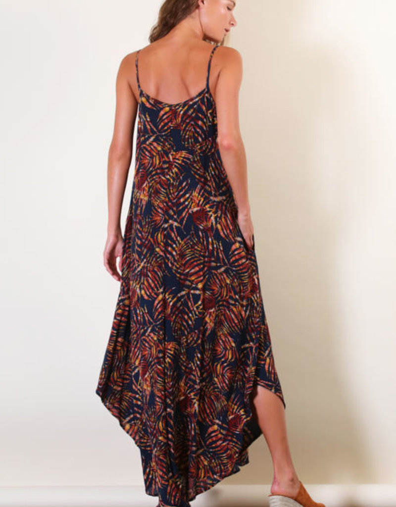 Final Touch Fire Palm Maxi Dress