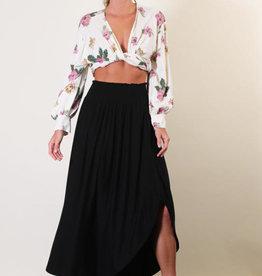 Final Touch Smock Waist Maxi Skirt