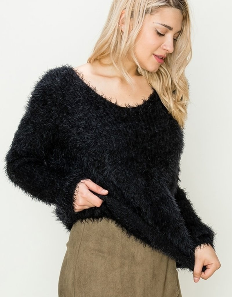 HYFVE Twist Eyelash Sweater