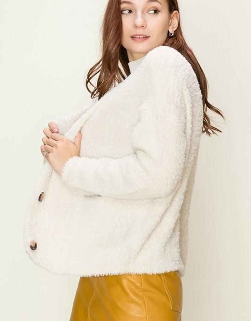 HYFVE Button Eyelash Sweater