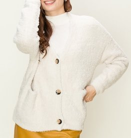 HYFVE Button Eyelash Sweater