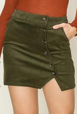 HYFVE Button Corduroy Skirt