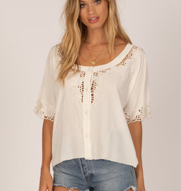 Amuse Society Lace Button Blouse