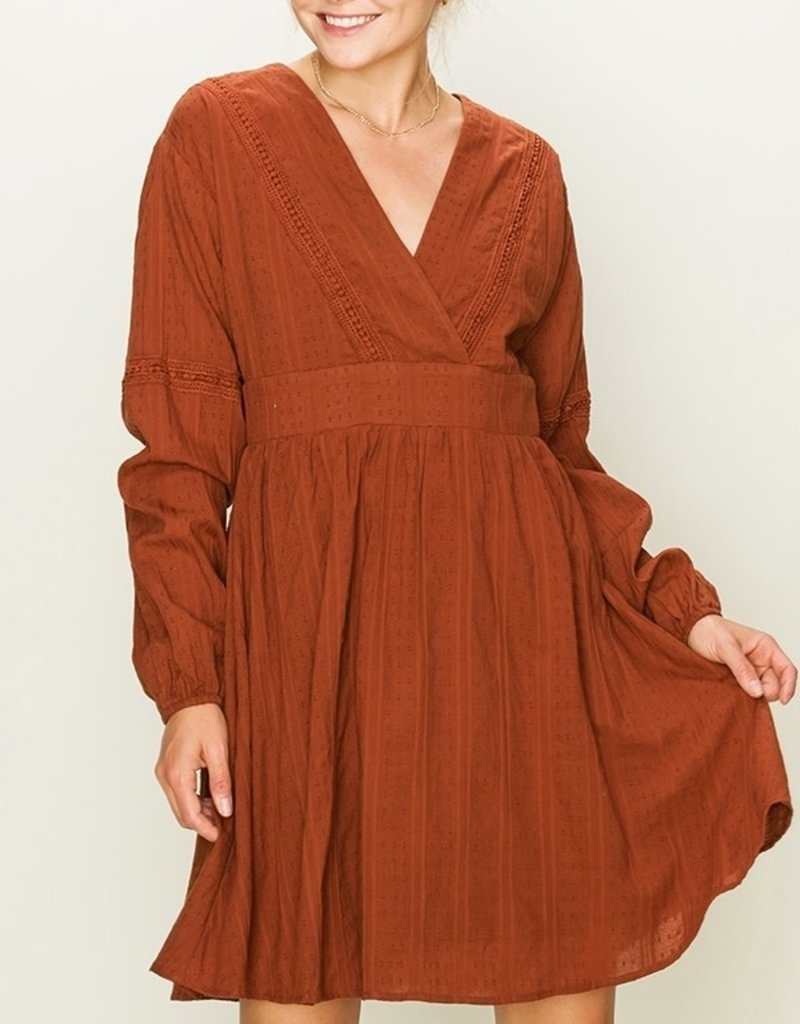 HYFVE Long Sleeve Swiss Dot Dress
