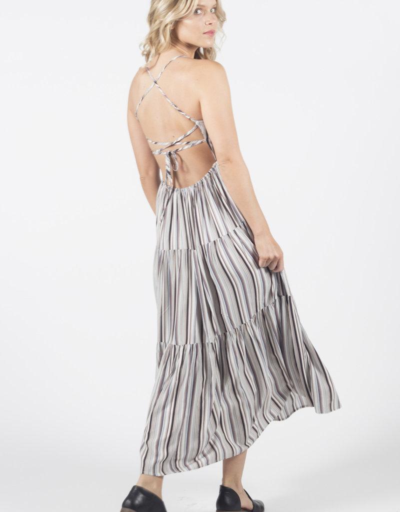 Lira Striped Tie Back Dress