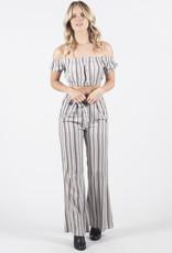 Lira Striped Tie Waist Pants