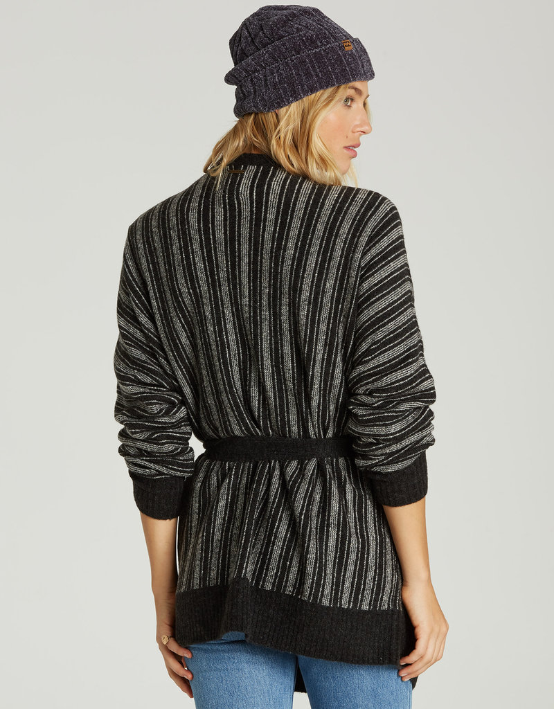 Billabong Striped Tie Waist Cardi