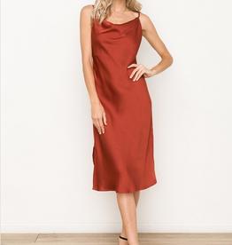 Hem & Thread Satin Slip Dress