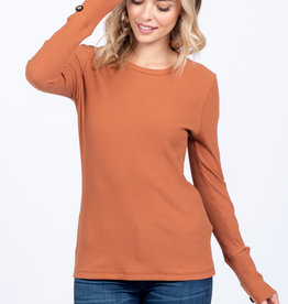 Everly Ribbed Button Sleeve Top