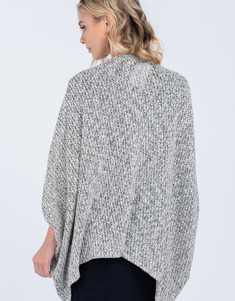 Everly Ruche Sleeve Cardigan