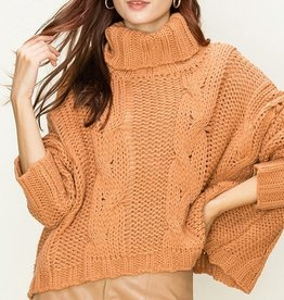 HYFVE Cropped Turtle Neck Sweater