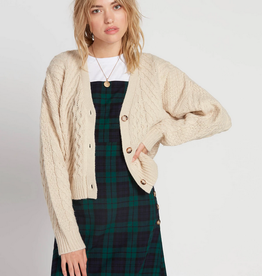 Volcom Crop Cable Knit Cardi
