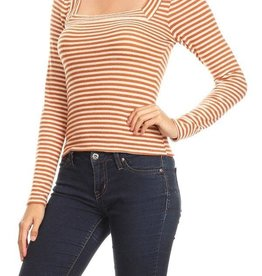Ginger G Striped Square Top
