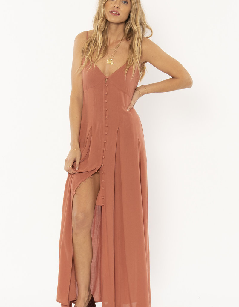Amuse Society Pleated Maxi Dress