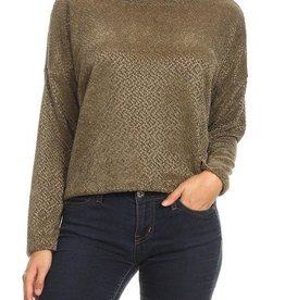 Ginger G Cropped Chenille Pullover