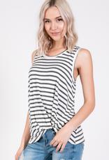 Emma's Closet Striped Side Tuck Modal Top