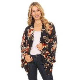 Chris & Carol Knit Floral Kimono