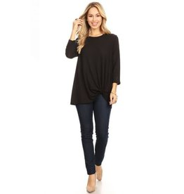 Chris & Carol Ribbed Side Knot Top