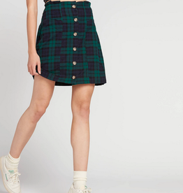 Volcom Button Up Plaid Skirt