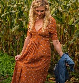 Lira Ruche Sleeve Maxi Dress