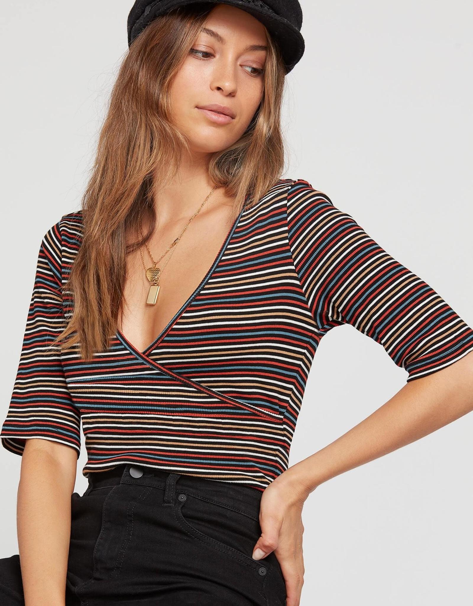 Volcom Striped Wrap Bodysuit