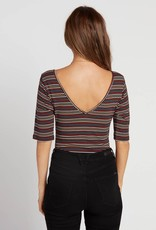 Volcom Striped Wrap Bodysuit
