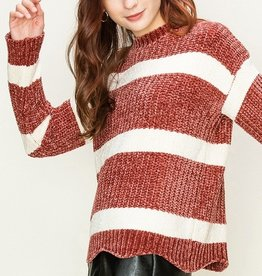 HYFVE Striped Chenille Sweater