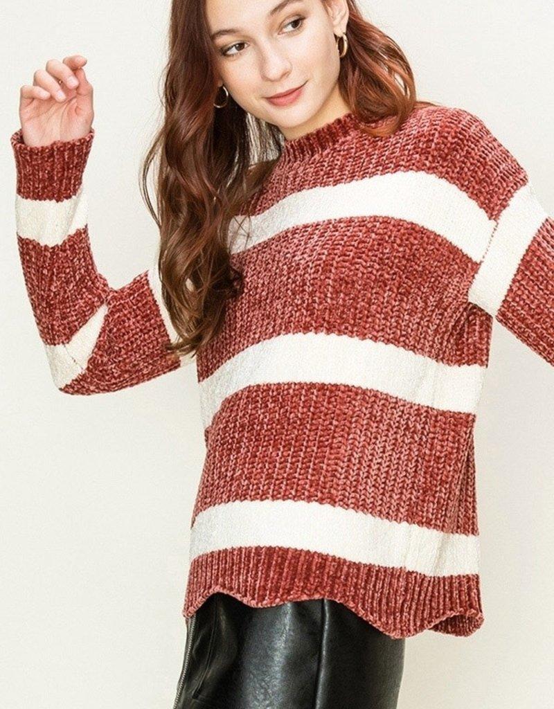 HYFVE Striped Chenille Sweater